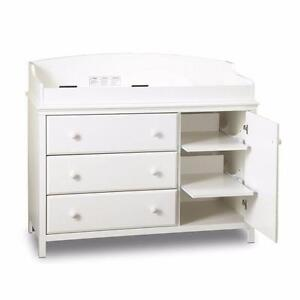 South Shore Cotton Candy Changing Table with Removable Changing Station - Pure White