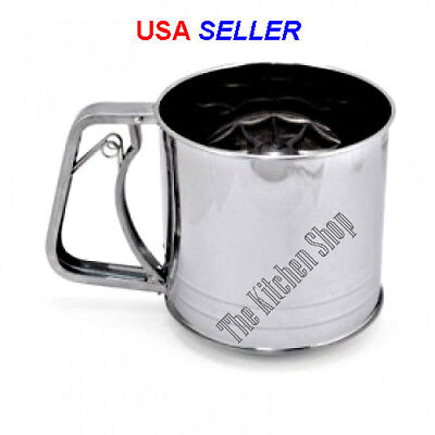 5 Cup Stainless Steel Flour Sifter Squeeze Handle - Kitchen Tools & Gadgets