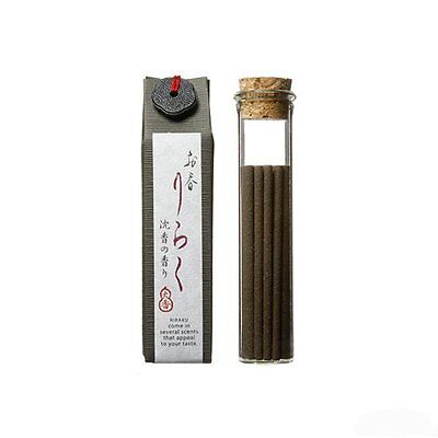 """Japanese Incense """"Jinko"""" Agarwood  80mm 15 pieces F/S from Japan"""