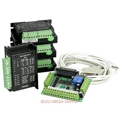 Cnc Kit 4 Axis Cnc Breakout Board 4 M335 Stepper Driver Controller 0.5-3.5a
