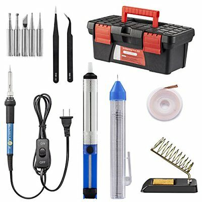 Soldering Iron Kit Electric Welding Gun Solder Weller Tool Sucker Wick W Stand
