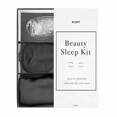 Eye Mask Gift Set - Night Beauty Sleep Kit Eye Mask Silk Pillowcase, cooling gel eye mask Gift Set