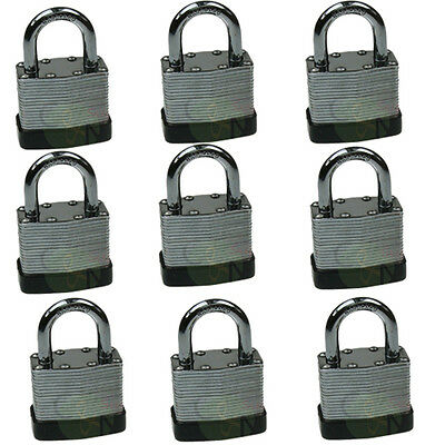 40mm Heavy Duty Laminated Padlock Keyed Alike Lock 9pcs