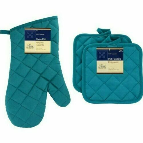 Home Collections - Kitchen Linens - Turquoise - Oven Mitt -