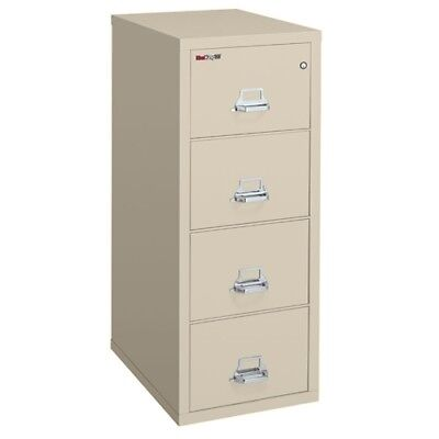 Used Fireking 25 4 Drawer Fire Safe Vertical File For Fire Legal