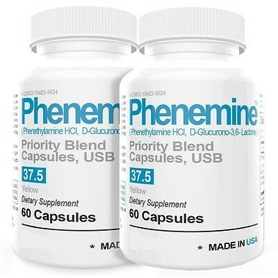 2 CT Phenemine Adipex 37.5 Slimming Pharmaceutical Grade Burner Best Diet Pills  10