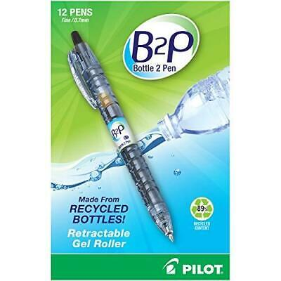 Pilot B2p Bottle To Pen Refillable Retractable Rolling Ball Gel Black 12-pack