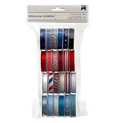 American Crafts [AMERICANA] 24 Spools Premium Ribbon  (32 yards)  Save 70%