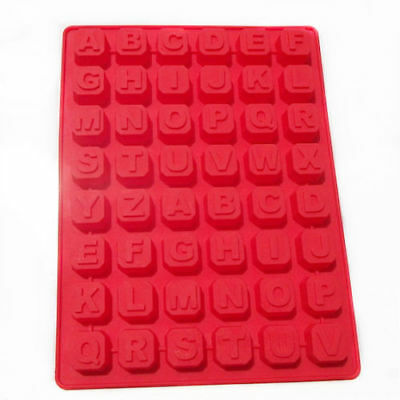Cake Mold, Soap Mold 48-Letter Letters Mold Silicone Mould For Candy Chocolate