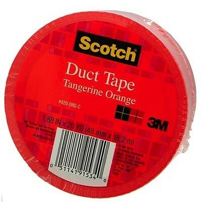 Duct Tape Tangerine Orange Colored 3m 1.88 X 20 Yards Scotch 3m 920 Tangerine O