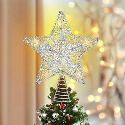 Luxspire Weihnachtsbaumspitze Stern Glitzerstern Weihnachtsbaum Topper Batter...
