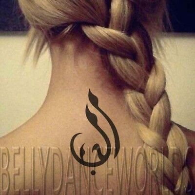 1 SET OF 3 ARABIC CALLIGRAPHY LOVE WORD DESIGN TEMPORARY TATTOO QUOTE NECK WRIST](Tattoo Bible Quotes)