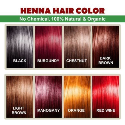 Organic Henna Hair Dye color For Men and Women 100% chemical