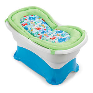 (NEW) NEW BORN+ BABY BATH TUB WITH MESH NET, STOOL & DRAIN PLUG