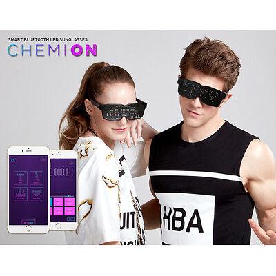 CHEMION 2 Smart Bluetooth LED Sunglasses light on Club Party 1each