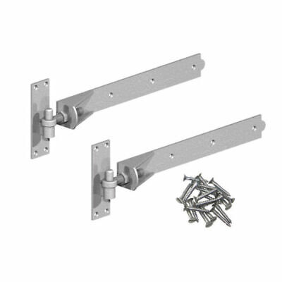 hook and band ajustable hinges in galvanised 30