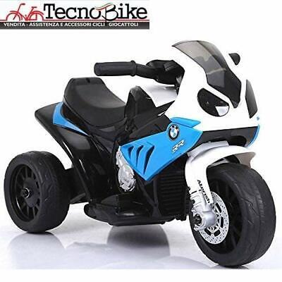 Moto Motocicletta Elettrica per Bambini 6V BMW S1000 Blu