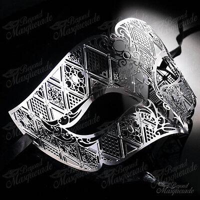Luxury Light Metal Venetian Masquerade Mask for Men M7156 [Silver]](Silver Mask For Halloween)