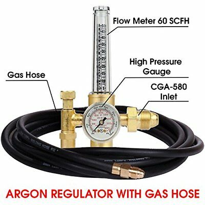 Argon Regulator Tig Welder Mig Co2 10 Hose 50-38 Scfh - 25 Psig
