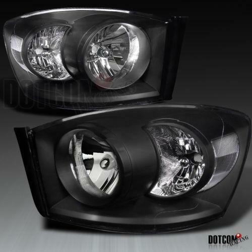 06 ram black headlights ebay. Black Bedroom Furniture Sets. Home Design Ideas