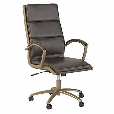 Bush Modelo Business Furniture Executive Brown Leather Executive Office Chair