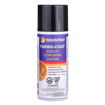 New 1 12 Oz Can Of Techspray Turbo-coat Acrylic Conformal Coating 2108-12s