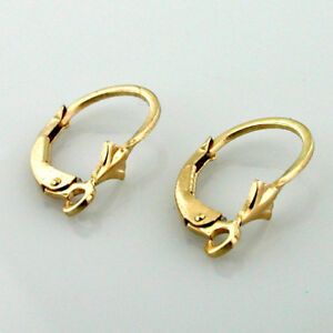 14k Solid Yellow Gold Leverback Earring Finding Pair 2 Findings Per Order New