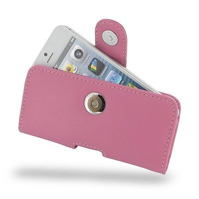 PDAir Leather Case Apple iPhone 5 5S - Horizontal Pouch Type - Petal - Horizontal Pouch Type Case