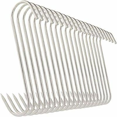 20pcs Meat Hooks Stainless Steel Butcher Meat Processing Reusable 15lbs 6 Inches