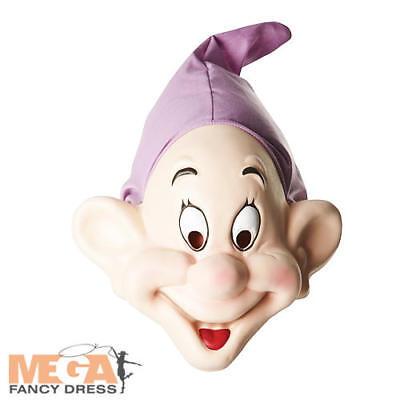 Adult Dopey Costume (Dopey Dwarf Mask Snow White Disney Fairytale Fancy Dress Costume Adult Mens)