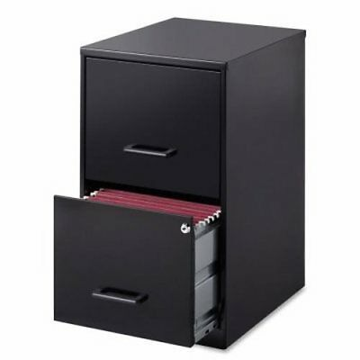 Lorell 14341 Steel File Cabinet 2-drawer Black Llr14341