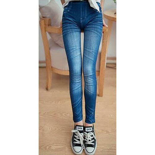 Leggings pantaloni effetto jeans leggins pantacollant donna JEANS Jeggings