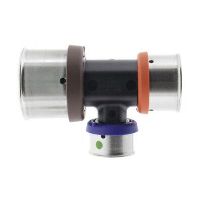5 Viega Pureflow 49754 Pex Press Polymer Tee 1-14 X 1 X 34 P X P X P New
