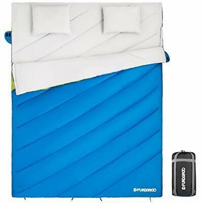 FUNDANGO Saco de Dormir Saco de Dormir Doble para 2 Personas para...