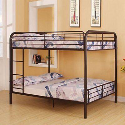 ACME Bristol Dark Brown Full over Full Bunk Bed
