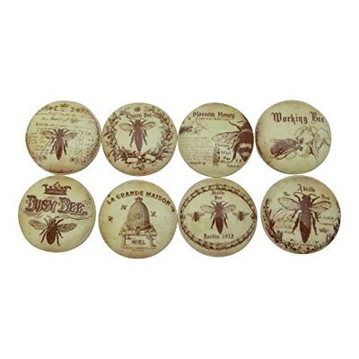 (Set of 8 Honey Bee Cabinet Drawer Knobs)