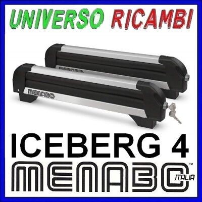 PORTASCI MENABO ICEBERG QUATTRO X 4 PAIA DI SCI O 2 SNOWBOARD CON AN.