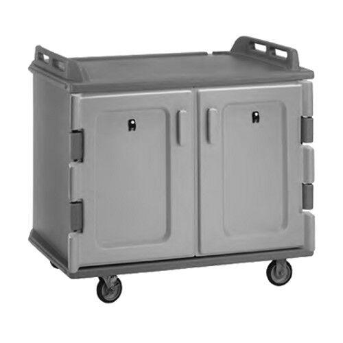 "Cambro Mdc1418s20191 48-1/2"" 2 Compartment Meal Delivery Cart (granite Gray)"