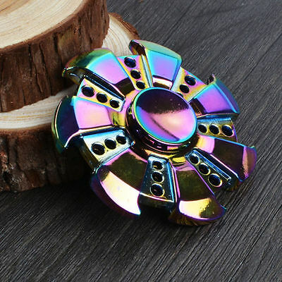 Special Gear Rainbow Fidget EDC Hand Spinner Torqbar ADHD Autism Finger Toy US