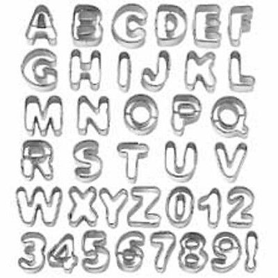 37 Piece Alphabet & Number Cut-Outs  417-442  Tin NEW