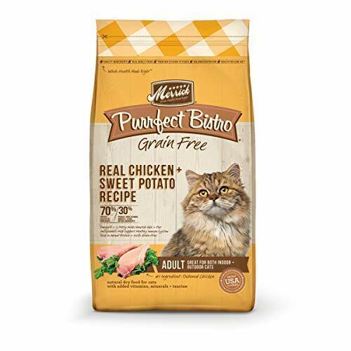 Merrick Purrfect Bistro Grain Free Real Chicken + Sweet Potato Recipe Adult Dry