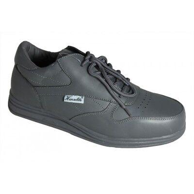 35.99 NEW  Henselite Victory Mens Bowls  Shoes WHITE GREY BROWN  freepost