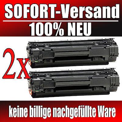 2 Neue Toner XXL für HP Laserjet P1005 P1006 P1007 P1008 CB435A 35A PK-Serie ()
