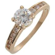 Cubic Zirconia Rings Gold Solitaire