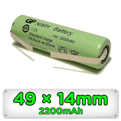 Rechargeable Nimh Type (Rechargeable Toothbrush Replacement Battery for Braun Oral-B 49mm x 14mm Ni-MH )