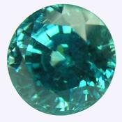Natural Blue Zircon Round