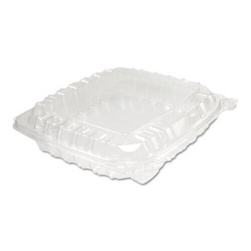 Dart ClearSeal Plastic Hinged Container, Clear, 250 Containers (DCCC89PST1)
