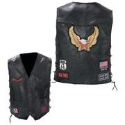 Leather Motorcycle Vest Patches