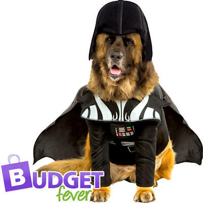 Star Wars Darth Vader Dog Fancy Dress Scifi Film Pet Animal Villain Costume New (Filmstar Kostüm Hund)