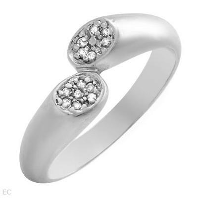 Attractive Ladies Ring W/Genuine Clean Diamond in 925 Sterling Silver